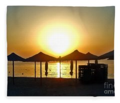Morning In Greece Fleece Blanket