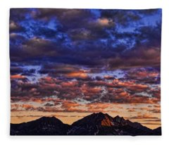 Morning In The Mountains Fleece Blanket
