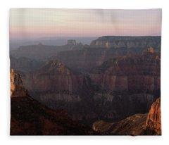 Morning Light On The Grand Canyon Fleece Blanket
