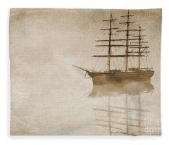 Morning Mist In Sepia Fleece Blanket