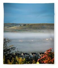 Morning Mist Over Lissycasey Fleece Blanket