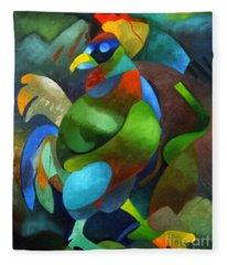 Morning Rooster Fleece Blanket