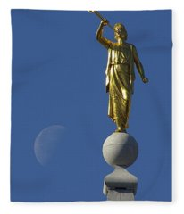 Moroni And The Moon Fleece Blanket