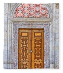 Mosque Doors 04 Fleece Blanket