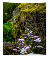 Moss And Flowers In Markree Castle Gardens Fleece Blanket