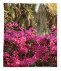 Moss Over Azaleas Fleece Blanket