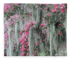 Mossy Crepe Myrtle Fleece Blanket