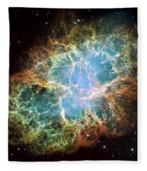Most Detailed Image Of The Crab Nebula Fleece Blanket