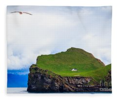 Most Peaceful House In The World Fleece Blanket