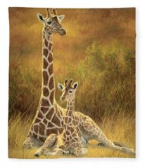 Mother And Son Fleece Blanket
