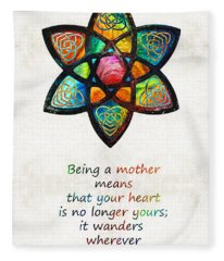 Mother Mom Art - Wandering Heart - By Sharon Cummings Fleece Blanket
