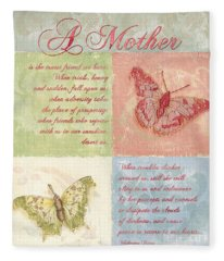 Mother's Day Butterfly Card Fleece Blanket