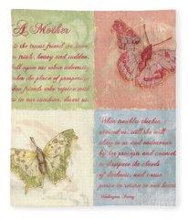 Mothers Day Butterfly Fleece Blanket