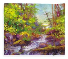 Mother's Day Oasis - Woodland River Fleece Blanket