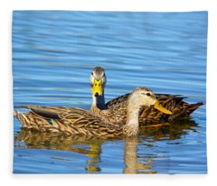 Mottled Ducks Fleece Blanket