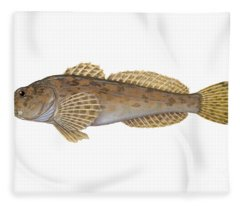 Mottled Sculpin Fleece Blanket
