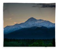 Mount Mckinley At Night Fleece Blanket