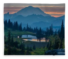 Mount Rainier Layers Fleece Blanket