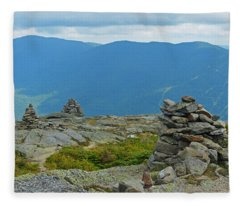 Mount Washington Rock Cairns Fleece Blanket