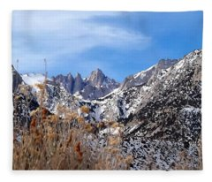 Mount Whitney - California Fleece Blanket