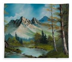 Mountain Retreat Fleece Blanket