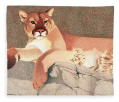 Mountain Lion Fleece Blanket