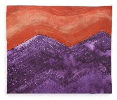 Mountain Majesty Original Painting Fleece Blanket