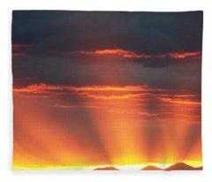 Mountain Rays Fleece Blanket