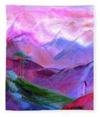 Mountain Reverence Fleece Blanket