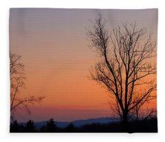Mountain Sunset 1 Fleece Blanket