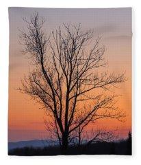 Mountain Sunset 2 Fleece Blanket