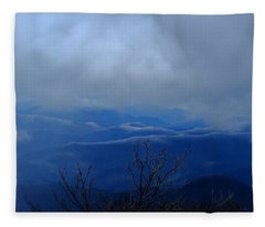 Mountains And Ice Fleece Blanket