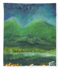 Mountains At Night Fleece Blanket