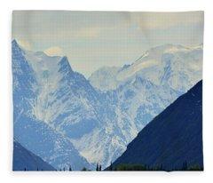 Mountains Near Matanuska Glacier Fleece Blanket