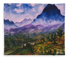 Mountains Of Pyrenees  Fleece Blanket