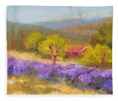 Mountainside Lavender   Fleece Blanket