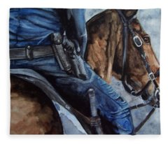 Mounted Patrol Fleece Blanket