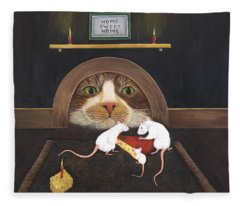 Mouse House Fleece Blanket