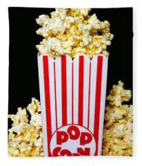 Movie Night Pop Corn Fleece Blanket