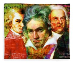 Mozart Beethoven Bach 20140128 Fleece Blanket