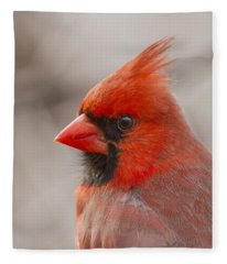 Mr Cardinal Portrait Fleece Blanket