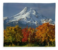1m5117-mt. Hood In Autumn Fleece Blanket