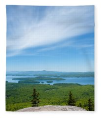 Mt Major View Fleece Blanket