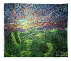 Mt. Mitchell  Fleece Blanket