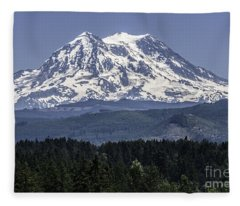 Mt Rainer In July Fleece Blanket