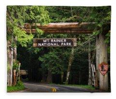 Mt Rainier Gateway Fleece Blanket