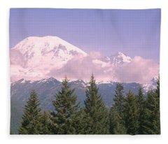 Mt Ranier Mt Ranier National Park Wa Fleece Blanket
