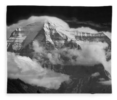 102496-mt. Robson Wreathed In Clouds Fleece Blanket