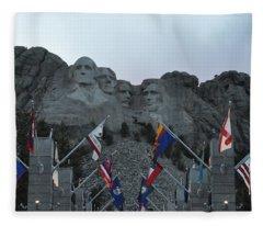 Mt. Rushmore In The Evening Fleece Blanket