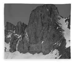 406427-mt. Sill, Bw Fleece Blanket
